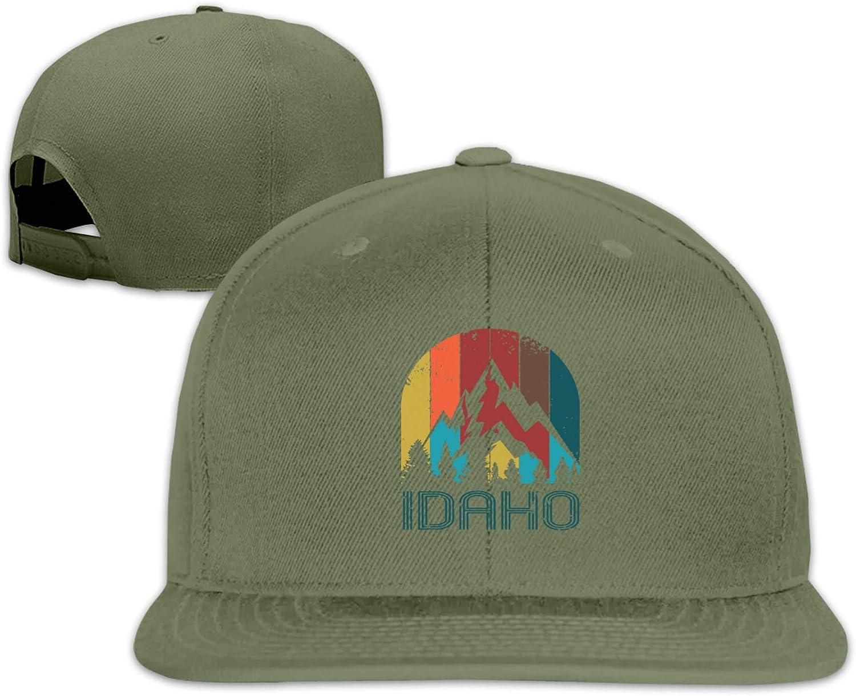 Rajanaz Idaho Flat Bill Snapback Hat Hip Hop Caps Adjustable Baseball Cap for Men & Women
