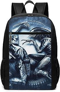 Alien Vs Predator Laptop Backpack 17 Inch,Travel Hiking Backpacks College School Computer Bag for Men Women Adults