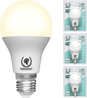 Espartan - Bombillas LED E27 Luz Cálida Bola 15W, 3000K, 1340 lúmenes, Equivalente a 120W Bombilla Incandescente Halógena,...