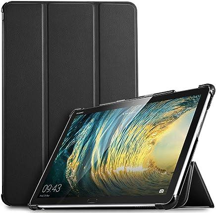 "IVSO Huawei Mediapad M5 Lite 10 Custodia Cover Case, Slim Smart Protettiva Custodia Cover in pelle PU per Huawei Mediapad M5 Lite 10.1"" Tablet, Nero"