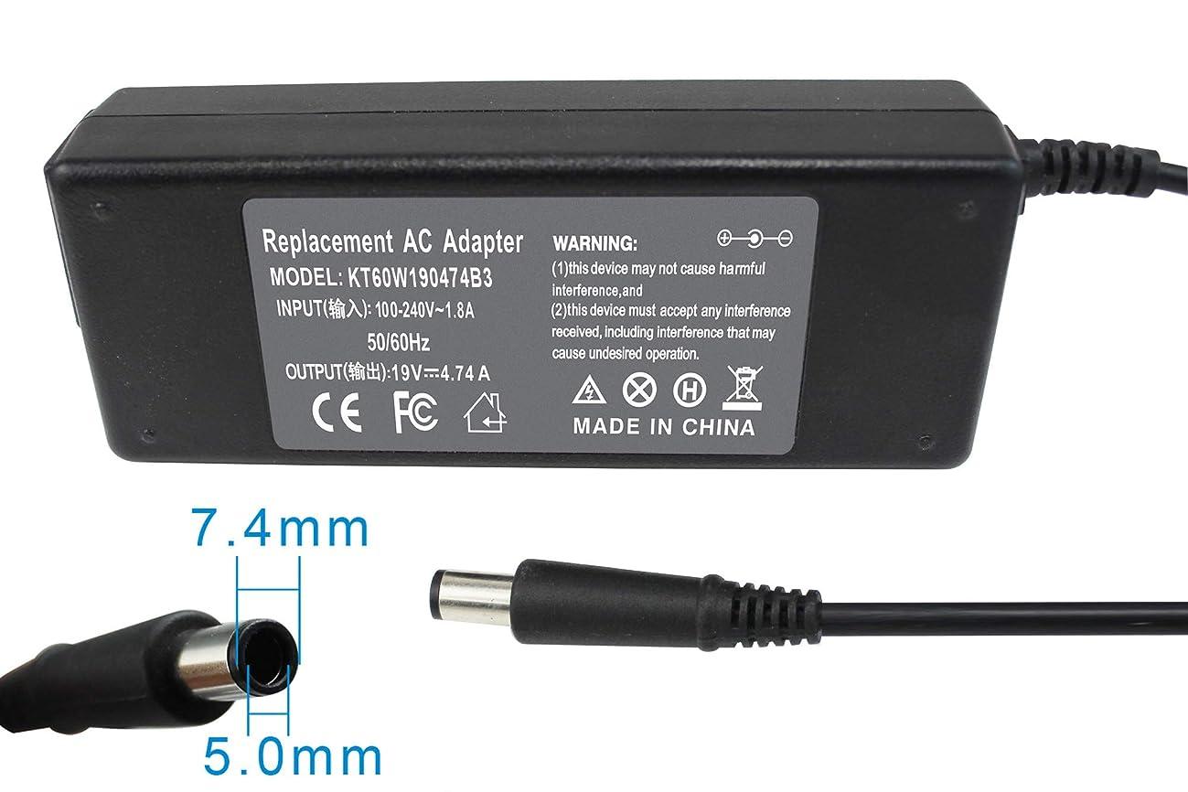 Gomarty 19V 4.74A 90W AC Power Adapter Charger for HP Pavilion DV4 DV5 DV6 DV7,Compaq Presario CQ40 CQ45 CQ50 GC60 CQ61 CQ62 CQ70,Compaq 6510b 6530b 6710b 6715b 6720s 6720t 6730 Series Power Supply