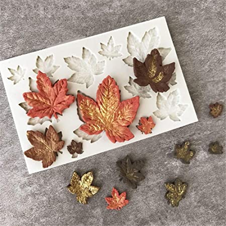 UG LAND INDIA 1PC Cute Sizes Maple Leaves Funny DIY 3D Plant Silicone Mold Making Ice Blocks Candy Fondant Chocolates Soaps Cakes Mousse Jelly Candle Decor Tool