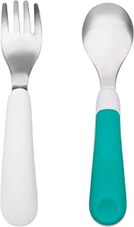 OXO Tot Training Fork/Spoon Set, Teal