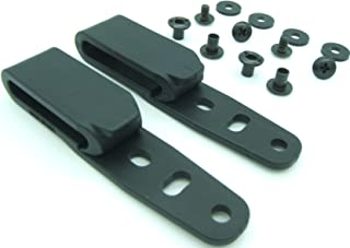 QuickClip Pro Holster Tough Grip Clips, 3 Hole Adjustable Cant for IWB OWB Kydex, Leather, Hybrid Holster Making. Tuckable Black Plastic w/Chicago Screw Hardware Made in USA