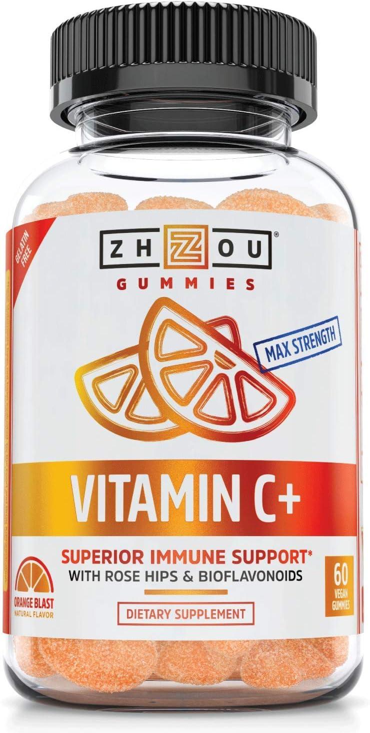 Zhou Nutrition Milwaukee Mall Vitamin C+ Rapid Gummies Booster Immunity Orange Free Shipping Cheap Bargain Gift