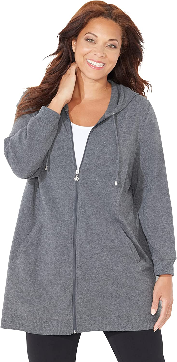 Catherines Women's Plus Size French Terry Hoodie