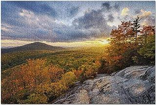HD ニューブルーリッジマウンテンズパークウェイノースカロライナ州、秋の夕暮れ9052455(大人向けのプレミアム500ピースジグソーパズル52x38cm米国製!)