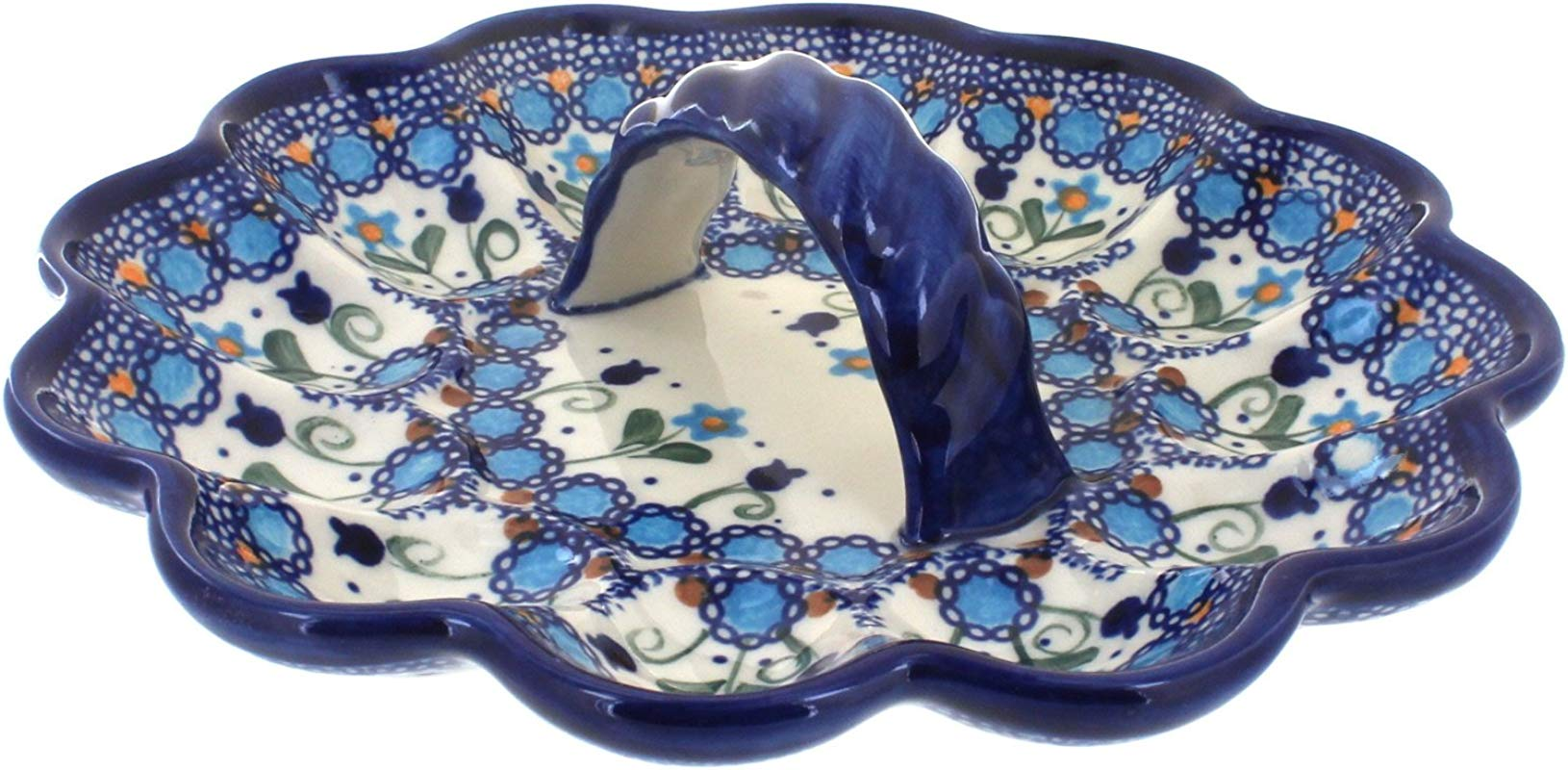 Polish Pottery Savannah Egg Plate