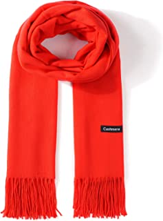 Poipoico 100% Cashmere Scarf,Premium Soft Warm Winter Shawl,Oversized Tightly Woven Cozy Wrap for Women and Men