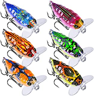 JRLGD 6pcs 4cm 4g Cicada Insect Fishing Lures Bass CrankBaits Top Water Fishing Hooks