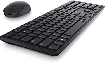 Dell KM5221W Pro Wireless Keyboard and Mouse Combo, Programmable Keys and Battery Indicator Light - Black
