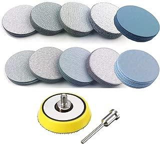200PCS 3 inch Sanding Disc Hook and Loop, VÉZAAR Wet/Dry Sandpaper Discs 80 120 180 240 600 800 1000 3000 5000 7000 Grit Woodturning Headlight Restoration Polishing Kit with 1/4 Dia Arbor