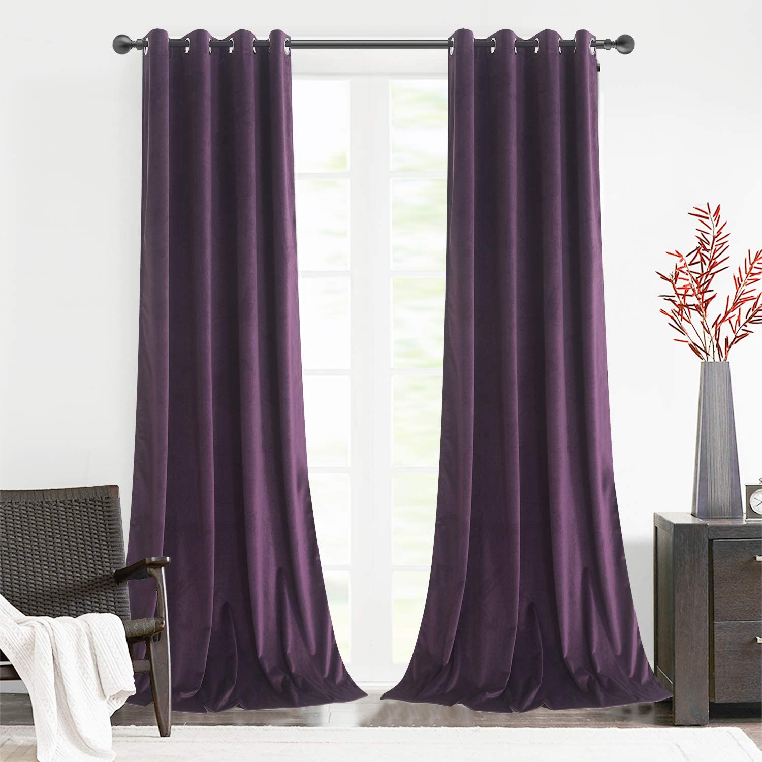Roslynwood Special sale item Home SEAL limited product Office Velvet Insulated Luxury Thermal Curtains