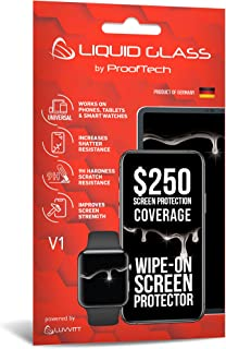Luvvitt Liquid Glass Screen Protector with $250 Screen Protection - Scratch Resistant Wipe On Coating for All Smartphones ...
