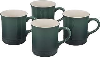 Le Creuset Stoneaware Set of 4 Mugs, 14-Ounce Each, Artichaut