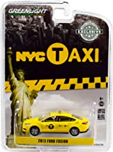 2013 Ford Fusion NYC Taxi (New York City) Yellow Hobby Exclusive 1/64 Diecast Model Car by Greenlight 30011