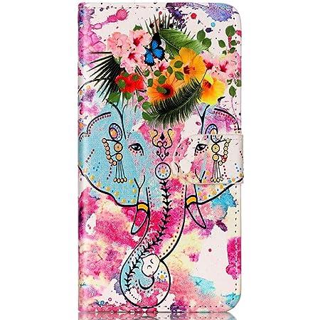 Coque Galaxy S7,Surakey Rétro Motif Housse Coque Etui à Rabat en PU Cuir Flip Case Cover Portefeuille Magnétique Wallet Coque Protection Étui pour ...