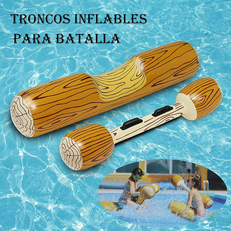 Inflatable Double Beat Log Stick Set Pool Float Floatie