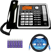 $69 » Motorola ML25260 DECT 6.0 Expandable Corded 2-Line Business Phone with Full Duplex Speakerphone and Caller ID/Call Waiting...