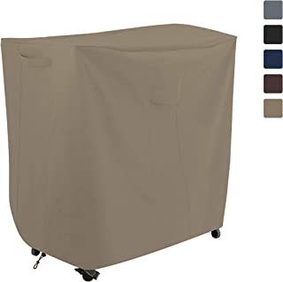 COVERS & ALL Bar Cart Cover 12 Oz Waterproof - 100% UV & Weather Resistant Outdoor Cart Cover with Air Pocket and Drawstring for Snug Fit (40