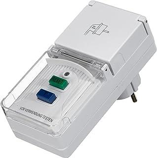 Unitec Persona Protección de Adaptador para Interior y Exterior IP44, 1Pieza, Color Blanco, 41759