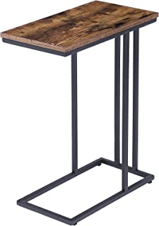 HOOBRO Side Table, Snack Table Heavy-Duty Sofa Side Table for Living Room, Bedroom, Easy Assembly, Space Saving, Wood Look...