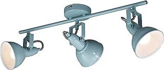 Briloner Leuchten - Plafonnier, plafond LED, éclairage, 3 spot, Métal, E14, max. 40W, menthe-blanc