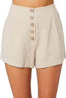 Elwood Women's Marla Short Cotton Linen Natural