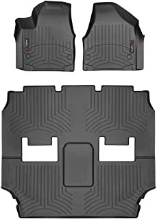 WeatherTech Custom Fit FloorLiner for Chrysler Pacifica 1st & 2nd Row (Black)