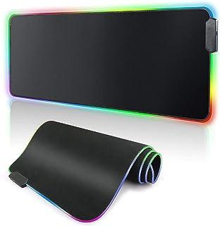 لوحة ماوس ألعاب RGB سوداء نقية - لوحة ماوس طويلة متوهجة كبيرة الحجم، لوحة ماوس عالية الأداء مصممة للاعبين ومناسبة لجهاز ما...