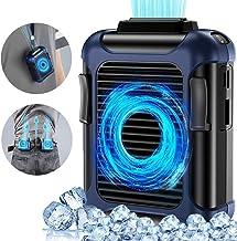 Waist clip fan/necklace fan mini portable fan belt fan 3-speed sports outdoor cooling fan-multifunctional USB rechargeable...