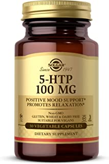 Solgar 5-HTP 100 mg, 30 Vegetable Capsules - Promotes Relaxation - Positive Mood & Stress Support - Non-GMO, Vegan, Gluten...