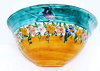 Vaso Da Muro Svuotatasche Ceramica Realizzato e Dipinto a Mano Le Ceramiche del Castello Nina Palomba Pezzo Unico Dimensio...