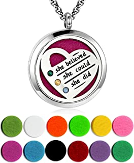 YOUFENG Essential Oil Necklace Diffuser Family Tree of Life Necklace Pendant Aromatherapy Locket