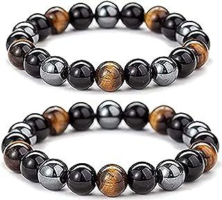 Heightenup Tiger Stone Anklet, Men SteelHard Triple Infrared Bracelet,Energy Bracelet Elease Anxiety,Stylish Men's Bracele...