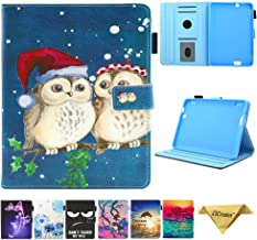 Kindle Fire HDX 7 Case, JZCreater Folio PU Leather Smart Case Cover for Amazon Kindle Fire HDX 7.0 Inch 3rd Generation Tablet, Cute Owl