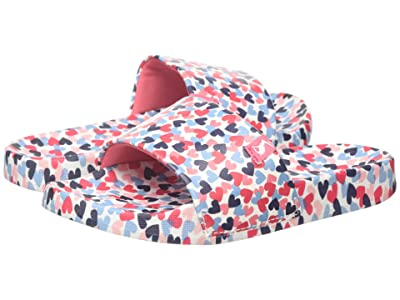 Joules Kids Poolside (Toddler/Little Kid/Big Kid) (White Hearts) Girls Shoes