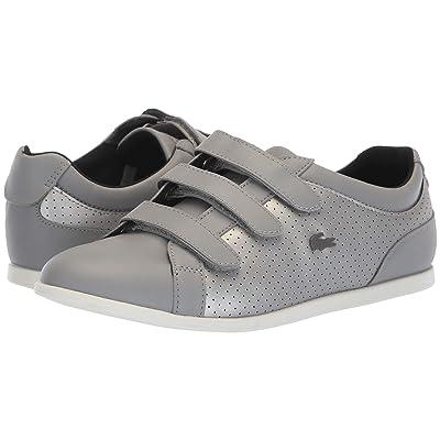 Lacoste Rey Strap 318 2 (Grey/Off-White) Women