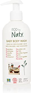 Eco by Naty Ecocert Certified Gentle Baby Body Wash for Sensitive Skin with Organic & Natural Ingredients - Free from Nasty Chemicals, 6.7 Fl. Ounce (Tear Free Shower Gel)