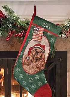 Personalized Cocker Spaniel Pet Christmas Stocking