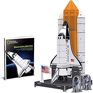 CubicFun 3D Kids Space Ship Puzzle Model Kits Toys with National Geographic NASA Booklet for Children and Teens
