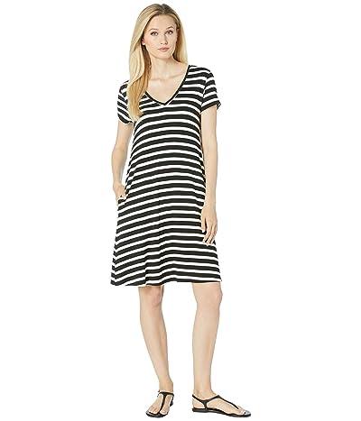 Karen Kane Quinn V-Neck Pocket Dress (Stripe) Women