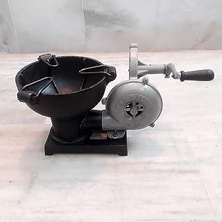 Horno de forja con ventilador de mano, estilo vintage, pedal, ventilador de manija