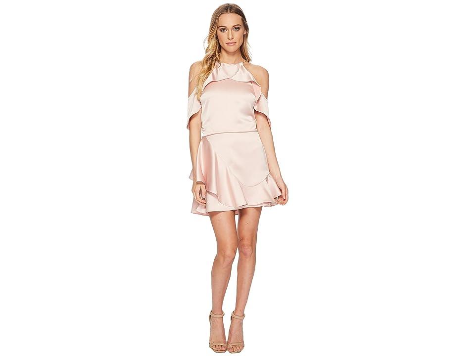 Halston Heritage Flouncy Cold Shoulder Dress (Bloom) Women