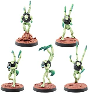 War World Gaming Sci-Fi Miniature Alien Mantids Full Set – 28mm Heroic Scale Sci-Fi Wargame Miniatures Figures Model Paint...