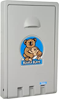 Koala Kare KB101 Vertical Wall Mounted Baby Changing Station, Gray
