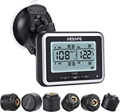 Vesafe TPMS, Wireless Tire Pressure Monitoring System for RV, Trailer, Coach, Motor Home, Fifth Wheel, with 6 Anti-Theft sensors