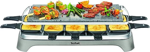 Tefal PR457B12 Pierrade Raclette, 1350 watts, Plaque de cuisson en pierre + 10 poêles à revêtement antiadhésif, y compris ...