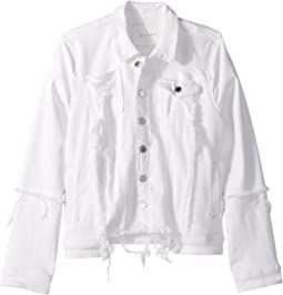 Blank NYC Kids - Distressed White Denim Jacket in Heartbreaker (Big Kids)