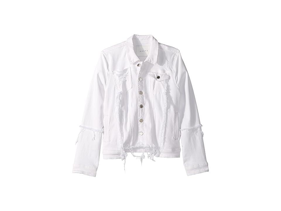 Blank NYC Kids Distressed White Denim Jacket in Heartbreaker (Big Kids) (Heartbreaker) Girl